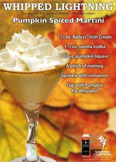 Pumpkin Spiced Martini