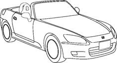 Honda Sport Coloring Page - Honda car coloring pages