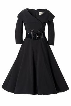 Bettie Page Clothing - Secretary 50s retro jurk cirkel swing dress