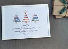 Personalisiertes Geldgeschenk Weihnachten moderne Tannen Geldgeschenkverpackung Feast Of Love, Stress, Christmas Gifts, Christmas Tree, Wooden Picture Frames, Adhesive Wallpaper, Wraps, Gift Wrapping, This Or That Questions