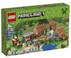 """Lego Minecraft """"The Village"""" 21128 Retired. Minecraft fans will love joining forces with Alex in the LEGO Minecraft The Village set. This set makes a standout gift for LEGO Minecraft collectors and Minecraft fans. Lego Minecraft, Minecraft Houses, Minecraft Gifts, Mine Minecraft, Minecraft Stuff, Minecraft Ideas, Lego Ninjago, Lego Duplo, Legos"""