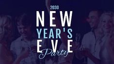 2030 New Years Eve party friends blue video template