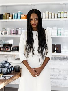 Vivrant Beauty owner, Desiree Verdejo behind the counter.   In the last year, choices for skin care, laser hair removal and other cosmetic services have increased dramatically.