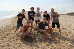 Ready, steady, go! The course kicks off in our Technical School…at the beach!