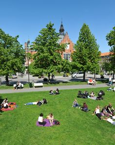 """Rådhusparken is a park in central Umeå. It is located between the City Hall and the Quayside area. It is called """"SF-parken"""" by the locals, because of the cinema """"SF-Bio"""" that is next to the park. Photo by Per Lundberg"""