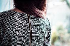 Gold detail, Dress Monroe Black&White