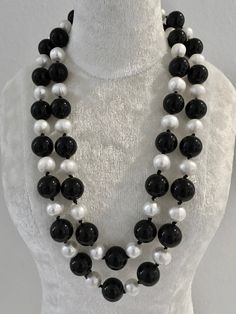 Onxy and Pearl Necklace (2) at $150 Check out- Belle4ever.com