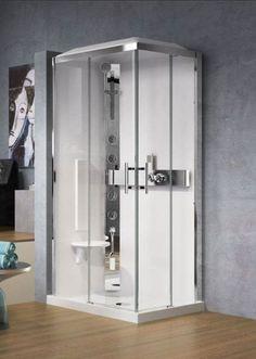 cabine de douche crystal de novellini avec buses hydromassantes et fonction hammam disponible. Black Bedroom Furniture Sets. Home Design Ideas