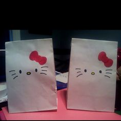 Hello Kitty birthday party gift bags