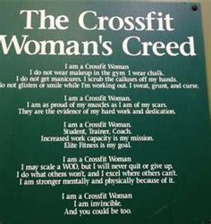 Cross Fit Creed