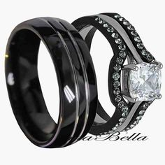 Matching Tungsten Wedding Bands Black Ring Sets Matches
