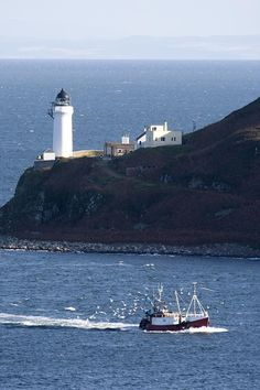 ✯ Lighthouse On The Coast, Campbeltown Loch, Island Of Davaar, Argyll And Bute, Scotland