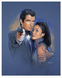Pierce Brosnan and Michele Yeoh in Tomorrow Never Dies