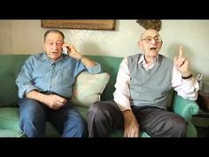 "85 year old best friends (so cute!!!) These guys are hilarious! ""Boota boota boota boota what? Underwear??"""