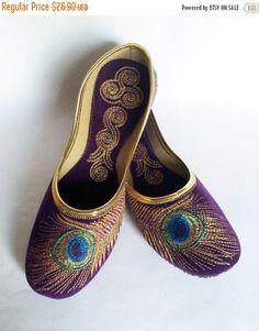 VALENTINE SALE 15% US Size 9/Purple shoes/Velvet Shoes/Gold Embroidered Designer Shoes/Purple Ballet Flats/Women Shoes/ wedding Shoes//Roya