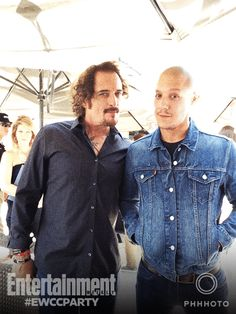 Kim Coates and Theo Rossi. Why is Theo going for the Vin Diesel look now, oh well I still love Theo