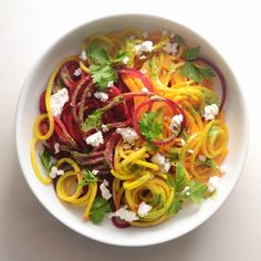 Spiralizing is an awesome and entertaining way to get fresh fruits and vegetables into your diet without incorporating complicated and calorie-heavy ingredients