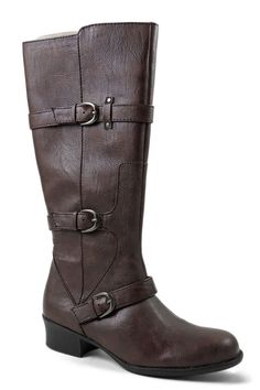 Naturalizer Women's Aria Riding Boot Dark Brown Size 6.5 Wide (C, D, W) #Naturalizer #RidingEquestrian