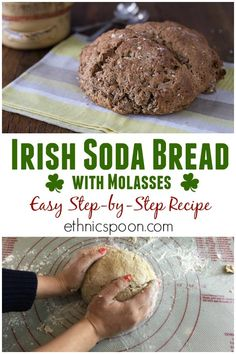 This easy to make Irish brown bread recipe is a version of Irish soda bread made with whole wheat flour, oats, molasses and buttermilk. The bread is sweet, rich and delicious. Slather it with Irish butter or dip it into a bowl of Guinness beef stew, yum! Irish Desserts, Irish Recipes, Asian Desserts, Irish Brown Bread, Irish Bread, Brown Bread Recipe, Fudge, Traditional Irish Soda Bread, Molasses Recipes