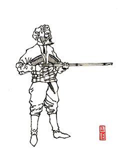 Gurian soldier of the Gurian militia. Military History, Archaeology, 19th Century, Georgia, Memes, Art, Art Background, Meme, Kunst