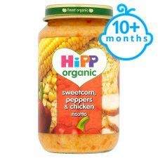 Hipp 10 Months+ Organic Sweetcorn Peppers&Chicken Risotto 220g