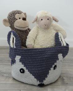 Our crochet fox basket is perfect for nursery storage. Materials: cotton Size: x Please note this basket is made from soft cotton and is designed Crochet Fox, Love Crochet, Crochet For Kids, Crochet Hooks, Diy Knitting Basket, Knit Basket, Crochet Baskets, Baby Baskets, Nursery Storage