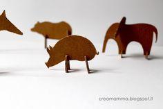 Cardboard animals by Creamamma