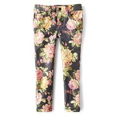 Joe Fresh™ Floral-Print Skinny Jeans - Girls 1t-5t - jcpenney - 1T for skinny kids!