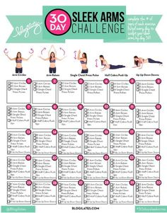 30 Day Arm Challenge Workout - arm workouts for women to do at home. Lose weight for summer. Fitness Workouts, Fitness Herausforderungen, Fitness Workout For Women, Arm Workout Women No Equipment, Arm Workout Challenge, 30 Day Arm Challenge, Month Workout, 30 Day Ab Workout, Challenge Ideas