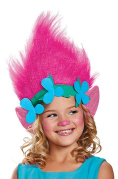 With this Poppy headpiece for kids, your child will be ready to take on the role of Poppy the princess troll! She can now go on the adventure of a lifetime, and save her all her friends from the Bergens while she's at it!