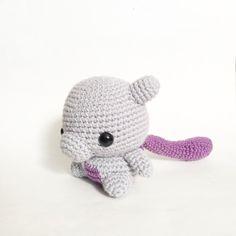 Crocheted chibi Mewtwo doll etsy.com/shop/crochetgiftsbycielo