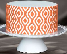 IKAT Lattice Silicone Onlay® Demo Cake