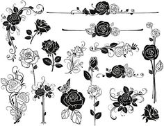 Instant Download Digital Sketchy Rose Flower by OneStopDigital, $3.75