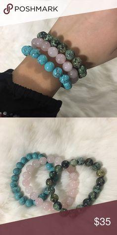 Handmade 3pc beaded bracelets 6.5 inch beaded bracelets. Handmade and high-quality bracelets Jewelry Bracelets