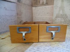 Vintage Industrial Index Library Card File by oZdOinGItagaiN, $45.00
