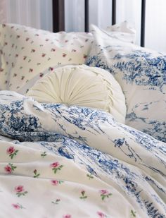 toile and floral mix <3
