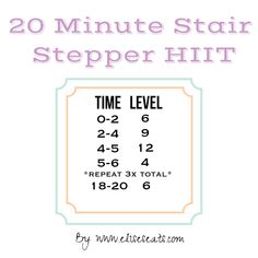 20 minute Stair Stepper Cardio HIIT Workout