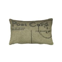 Postcard Pillows with vintage postcard graphics from early 1900s.  Fully customizable! add text/photo's .Great gift idea!