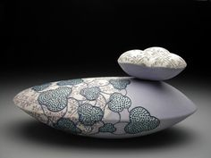 """by Erin Furimsky - Uni of Florida ceramic program grad. You can see her influence in current UF grads, such as Mariana Baquero's """"puffy"""" lids."""