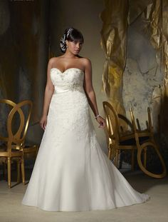 Beautiful Plus Size wedding dress from the Julietta collection by Mori Lee