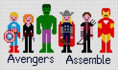 Free Avengers Cross Stitch Patterns | see better from a distance. - More Avengers cross stitch!