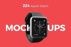 224 Apple Watch Mockups by 360mockups on @creativemarket