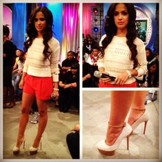 Rocsi's Runway look for 4.12.12: @rag_bone shorts @SuperOJ Olcay Gulsen pumps  NSF sweater