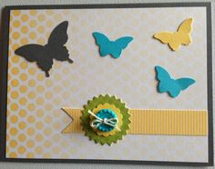My Paper Pumpkin Welcome Kit - using elements contained in the kit plus some butterflies from Embosslits Beautiful Wings - for a fresh new look!