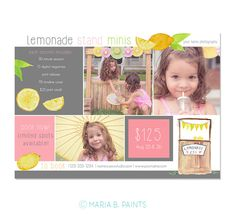 Mini Session Postcard  Photography Template  Flyer by MariaBPaints
