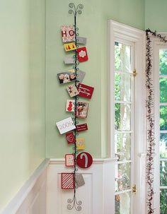 Decorando com Cartões de Natal - Christmas Cards in Decor