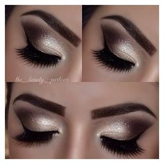 Makeup Golden Smokey Eye Makeup Tutorial by Lisa Eldridge ❤ liked on Polyvore featuring beauty products, makeup and eye makeup