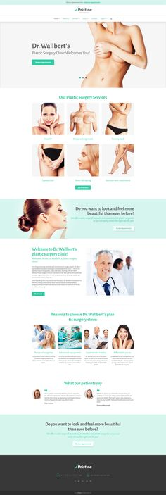 Plastic Surgery WordPress Theme http://www.templatemonster.com/wordpress-themes/pristine-wordpress-theme-58987.html #medicine