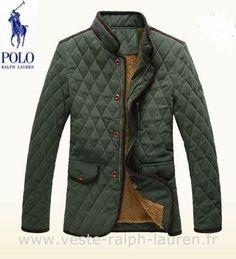 boutique Ralph Lauren hommes manteau nouvelle coton mode pas cher vert Doudoune  Ralph Lauren Femme Pas 7da28ce0f64