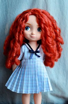 Navy Dress for Disney Animator doll 16 inch by LittleBigBoutique